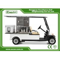Quality 2 Passenger Electric Food Cart For Park Services With Trojan Battery for sale