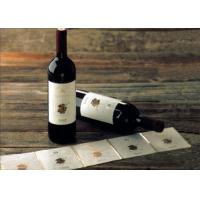 Quality Adhesive Paper Wine Label Stickers , Spot UV Surface Handle Printable Wine Labels for sale