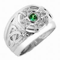 Quality Celtic Jewelry Ring, Made of Stainless Steel, Lead- and Nickel-free for sale