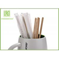 Best Sterile Healthy Coffee Mixer Stick , Individually Paper Sleeve Wooden Drink Stirrers wholesale