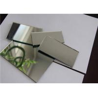 Single Coated Aluminum Mirror Glass Shape Customized For Building Decorations