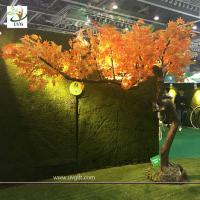 Buy cheap UVG unique orange artificial maple tree with bent fiberglass trunk for indoor hall decoration GRE072 from wholesalers