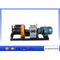 Quality 50KN Double Drum Electric Power Cable Pulling Tools Winch With 6 Groove for sale