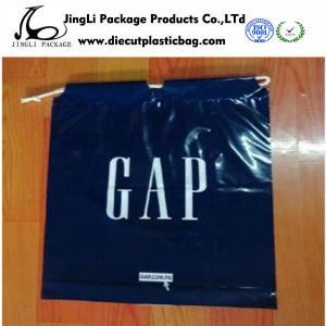 China Customized LDPE Plastic Drawstring Bags plastic promotional black bag on sale
