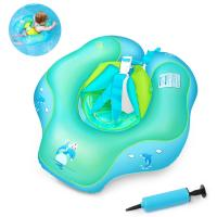 Quality U-shape Under Arm Infant Inflatable Swim Ring PVC Pool Float For 2-6 Years Old Blue for sale