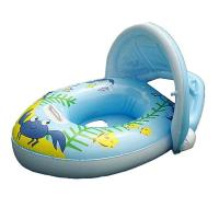 """Quality PVC Baby Boat Float Inflatable Swim Ring Kids Water Seat With Canopy Horn 30*22"""" for sale"""