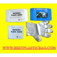China High quality normal very simple & thin disposable PE plastic gloves on sale