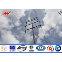 Best S500MC 12m Galvanized Steel Power Transmission Poles Utility For Power Distribution wholesale