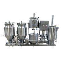 China 100L Experimental Brewing System , Steam Heated Pub Commercial Brewery Equipment on sale