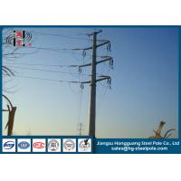 Best 800 daN Steel Tubular Pole Double Circuit Transmission Line Electric Poles wholesale