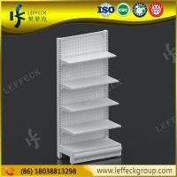 Quality Multi function light duty metal pegborad food storage shelves for grocery store for sale