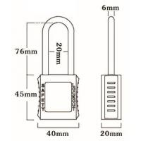 Quality 76mm Non-Conductive Steel Shackle Safety Padlock for sale