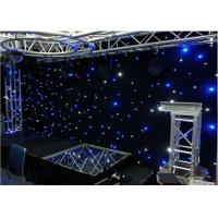 Quality Stage Wedding Star LED Curtain Lights Warm White Drop Velvet Easy To Set Up for sale