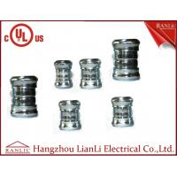 """Quality 3"""" 4"""" Steel EMT Conduit Fittings Galvanized Compression Coupling UL Listed , Blue White for sale"""