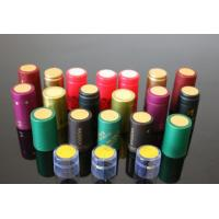 China 2014 new arrival heat shrink wrap capsule for wine bottles Olive oil heat PVC shrink capsules on sale