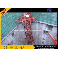 China High Performance Hydraulic Mobile Crane , Inner Climbing Tower Crane Remote Control on sale