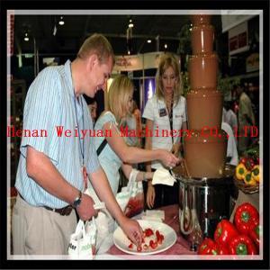 China Hot sale stainless steel chocolate fondue fountain machine on sale