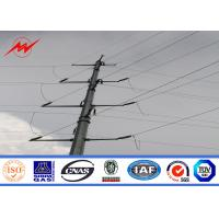 Buy cheap Hot Dip Galvanized Steel Power Pole With Electrical Accessories from wholesalers