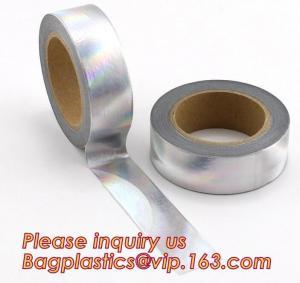 Quality foil washi tape holographic foil washi tape,Gold Laser Decorative Reflective Customized Washi Tape,Decorative Adhesive T for sale