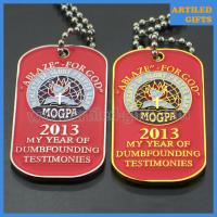 Best ABLAZE FOR GOD MOGPA dog tag with ball chain in gold and silver color wholesale