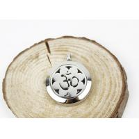Quality Hollow Sun Flower Essential Oil Jewelry Diffuser Necklace Locket 6.5mm Thickness for sale