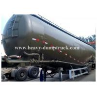 Quality Carbon steel Durable Bulk Cement Power Trailer 75Tons and 78CBM , Silo Trailer with warranty for sale