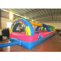 Quality Inflatable the commercial rainbow water slide inflatable horizontal direction interesting wild splash on sale for sale