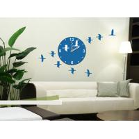 Quality 3M Removable Vinyl Foreign Design Wall Sticker Clock / Non - Toxic stickers 25A005 for sale