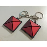 China Renextop Entertainment Custom 3d Triangle Rubber PVC Keychain With Back Embossed Logo For Giveaway on sale