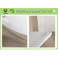 Best C1S Grey Cardboard Paper Clay Coated News Board 230gsm Water Resistance wholesale