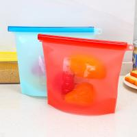 Quality Microwave Freezer Dishwasher Reusable Leak-Proof Food grade Silicone Bag For Food Storage for sale