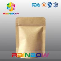 Quality Stand Up Kraft Paper Bags for Candy Packaging with Zipper and Window for sale