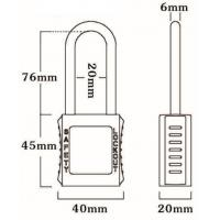 Quality 76mm Non-Conductive Insulation Nylon Shackle Safety Padlock 45mm*40mm*20mm for sale