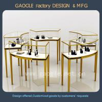 China Top quality stainless steel jewelry retail store display cases on sale