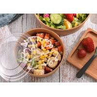 Quality Manufacturer Personalized Disposable Kraft Paper Bowl Take Away Salad Bowl with Lid for sale