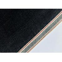Quality Customize Design Stretch Denim Fabric For Skinny Selvedge Jeans 31mm Width for sale
