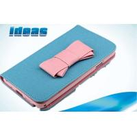 Buy cheap Lovely Blue Butterfly Samsung Galaxy Leather Cases PU Flip For Galaxy S4 from wholesalers
