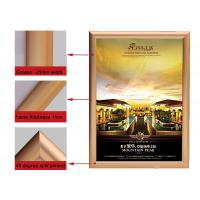 Quality A2 Size Golden Color Aluminium Snap Frames , Jewelry Advertising Snap Display Frames  for sale