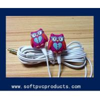 Quality Customized Logo Soft PVC Rubber Earphone Silicone Cable Winder Phone Decoration Accessories for sale