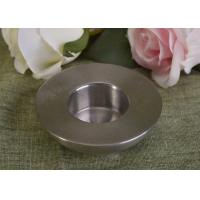 Best 25Ml Mini Simple Silver Tealight Metal Candle Holders Thick Wall Eco Friendly wholesale