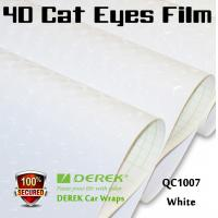 Quality 4D Cat Eyes Car Wrapping Vinyl Films - White for sale