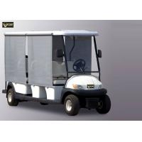 China Sunshade White 8 Seater Golf Cart , Trojan Battery Electric Sightseeing Car on sale
