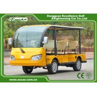 Quality Yellow 72V 7.5KM 8 Seater Electric Sightseeing Car With Storage Basket for sale