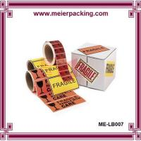 Quality Shipping Fragile Warning Label/Roll Lable Paper Sticker Printing/Waterproof Label ME-LB007 for sale