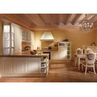 Best American Solid Wood White Laminate Kitchen Cabinets U Shaped Tansitional Design wholesale