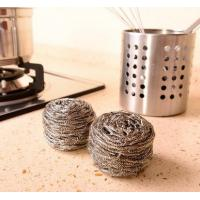 China Kitchen Usage Stainless Steel Scouring Ball For Restaurant Washing Pots on sale