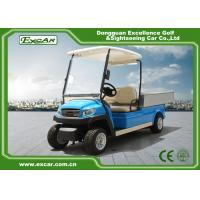 Quality Blue Electric Utility Golf Cart Hotel Buggy Car For 2 Person Battery Operated CE Approved for sale