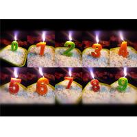 Quality Beauty Stitches Printed Numerical Birthday Candles White Short Line Border Wax for sale