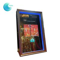 Quality Led open air wedding photo booth 3d mirror selfie photo booth for sale