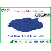 Quality Cotton Dyes Blue Dye Stuff Rsn Vat Blue 4 Chemicals Used In Textile Dyeing for sale
